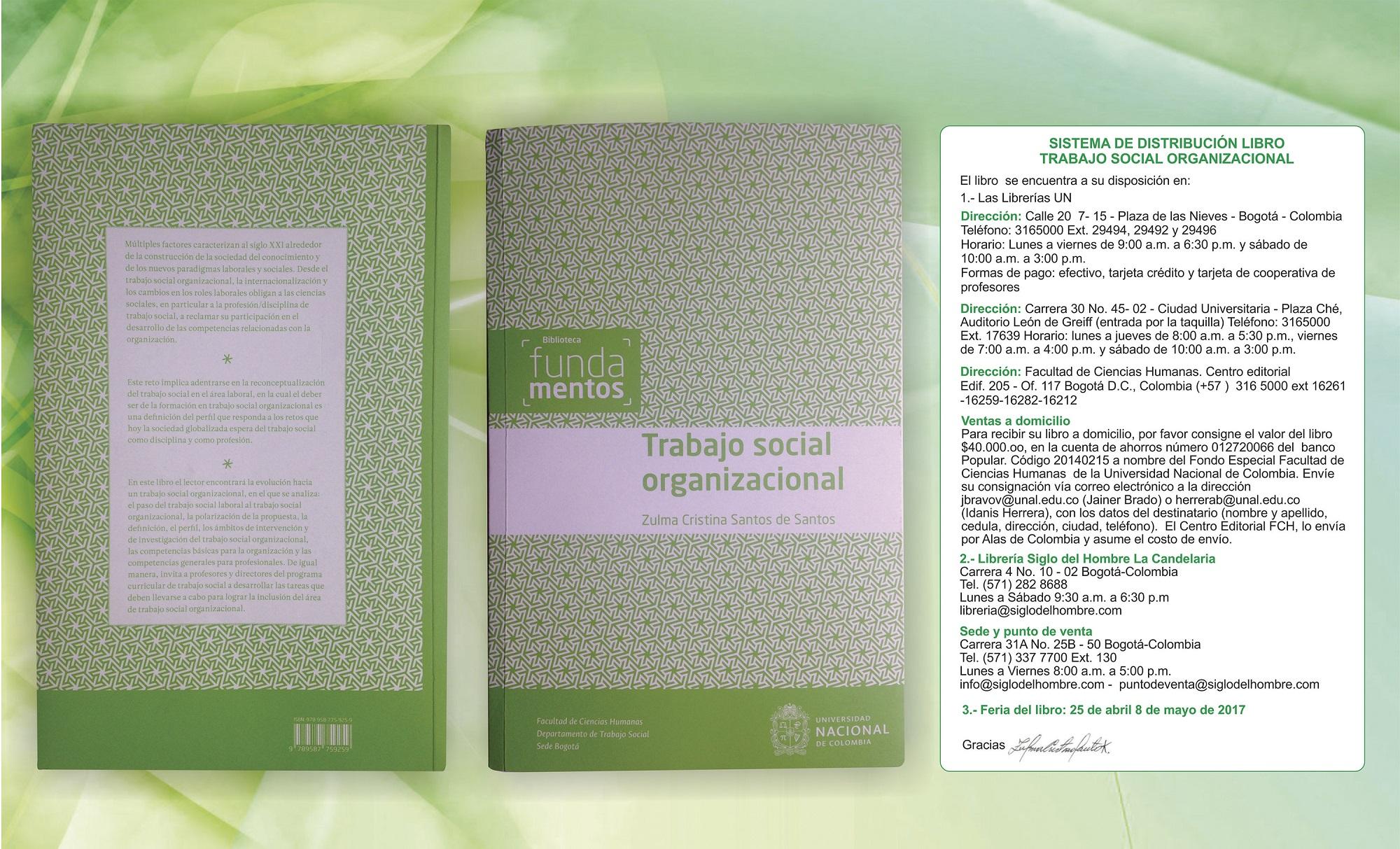 imagen libro trabajo social organizacional